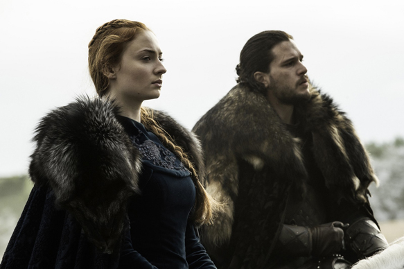 Sophie Turner, Jon Snow (Credit: Helen Sloan/HBO)