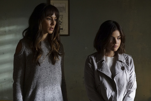 "PRETTY LITTLE LIARS - ""Exes and OMGs"" - Emily's ex Paige unexpectedly returns to Rosewood, as does the ominous Mrs. Grunwald, in ""Exes and OMGs,"" an all-new episode of Freeform's hit original series ""Pretty Little Liars,"" airing TUESDAY, AUGUST 16 (8:00 - 9:00 p.m. EDT), the new name for ABC Family. (Freeform/Byron Cohen) TROIAN BELLISARIO, LUCY HALE"