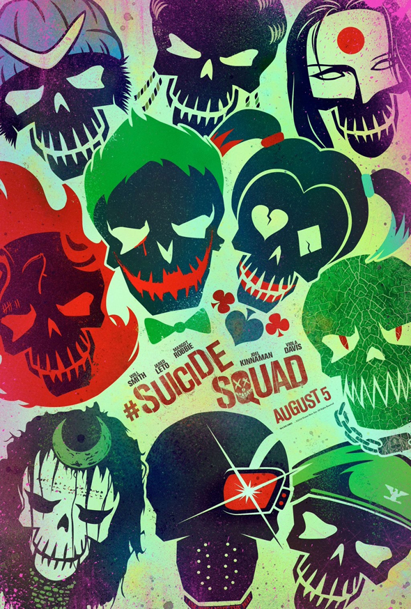 Suicide Squad official poster - Suicide Squad (Movie Review)
