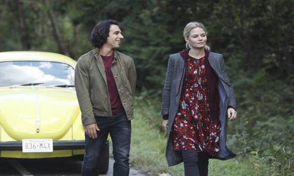 "ONCE UPON A TIME - ""Dark Waters"" - Emma tries to convince Aladdin to work with Jasmine to help Agrabah, while Regina teams up with Snow and David to free Archie from Zelena. The Evil Queen sows suspicion between Henry and Hook, even as Mr. Gold reminds her of his most important lesson. Meanwhile, in the past, Hook finds himself kidnapped by the mysterious Captain Nemo and held captive inside his legendary submarine, the Nautilus, on ""Once Upon a Time,"" SUNDAY, OCTOBER 30 (8:00-9:00 p.m. EDT), on the ABC Television Network. (ABC/Jack Rowand) DENIZ AKDENIZ, JENNIFER MORRISON"