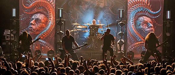 meshuggah slide - Meshuggah Demolish Playstation Theater, NYC 11-3-16 w/ High on Fire