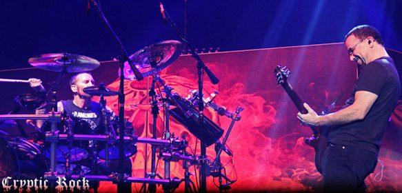 Shannon Larkin and Tony Rombola performing with Godsmack in Camden, NJ 8-26-14