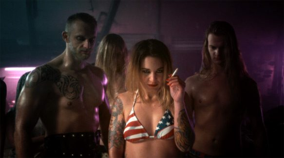 """Still from The Charm The Fury's """"Down On The Ropes"""" music video."""