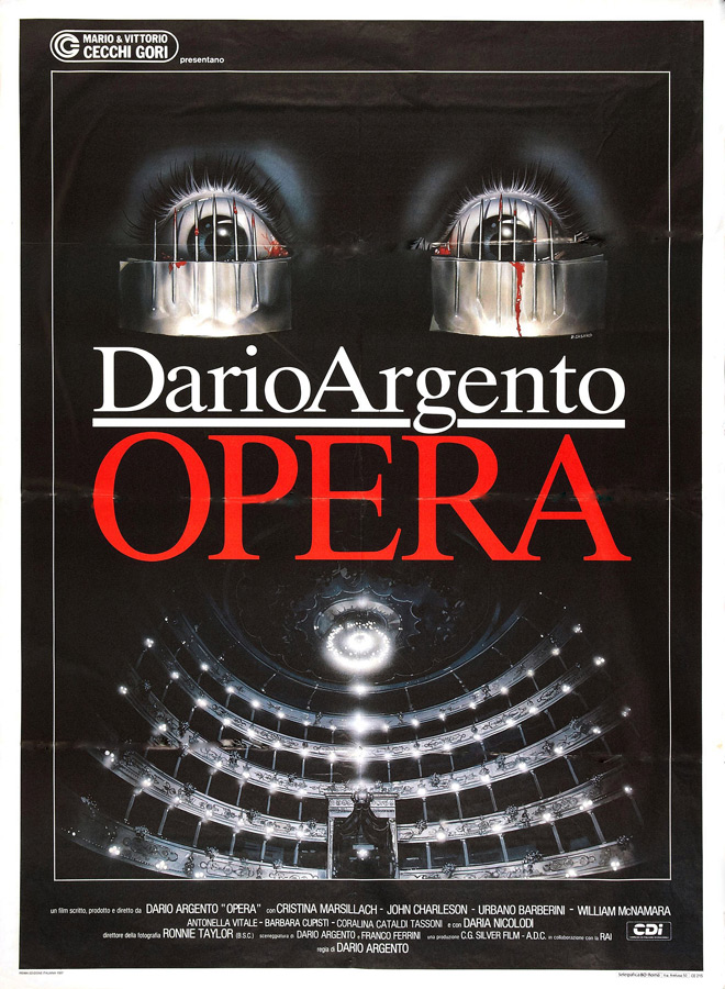 opera poster - As The Crow Flies - 30 Years Of Dario Argento's Opera