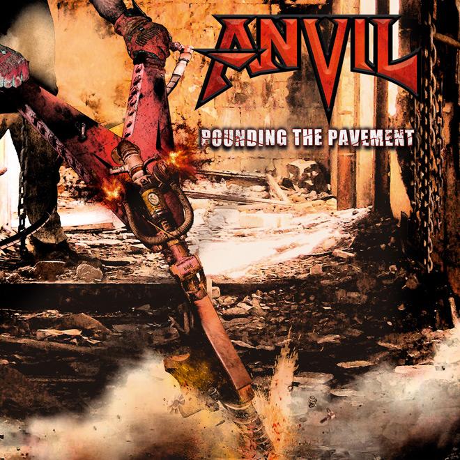 anvil album cover - Anvil - Pounding the Pavement (Album Review)