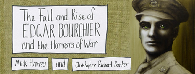 mick slide - Mick Harvey & Christopher Richard Barker - The Fall and Rise of Edgar Bourchier and the Horrors of War (Album Review)