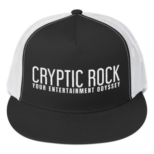 mockup a19f67c9 600x600 - CRYPTICROCK BLACK & WHITE TRUCKER CAP