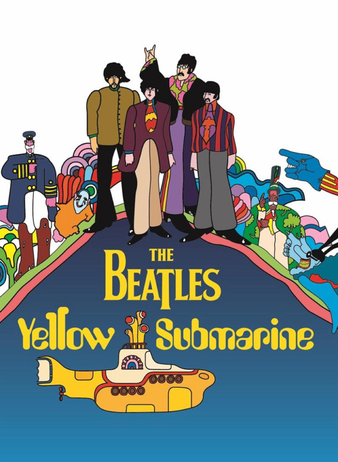 yellow poster - The Beatles' Yellow Submarine - It Was 50 Years Ago Today