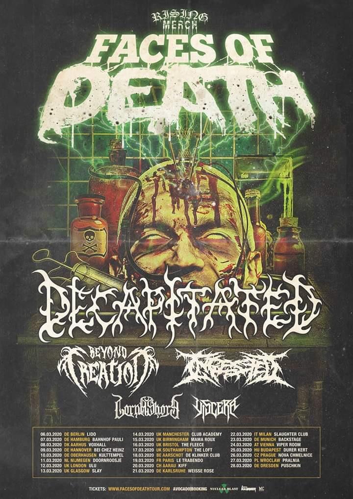 faces of death tour poster - Interview - Adam De Micco of Lorna Shore